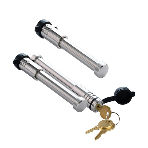 61652 | 3 Pack Mix, Keyed Alike, Stainless Steel Hitch Locks (Fits: BulletProof Hitches | Curt Mfg.)