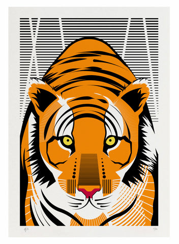 TIGER SCREEN PRINT ARBITRARY MATTER WILD CAT