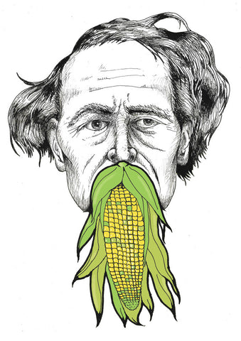 Charles Dickens with Corn on the Cob Beard