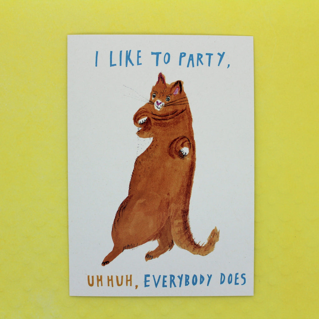 MUSIC INSPIRED CAT CARD BY HEATHER MORE I LIKE TO PARTY