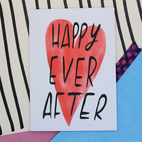 HAPPY EVER AFTER CARD BY NICOLA ROWLANDS GREETINGS CARD WEDDING