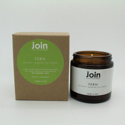 FERN VEGAN CANDLE WITH PINE ROSEMARY AND LIME BY JOIN STORE LONDON