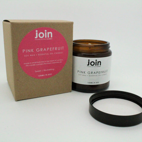 GRAPEFRUIT ESSENTIAL OIL CANDLE BY JOIN STORE LONDON VEGAN
