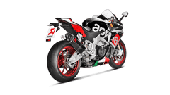 Aprilia RSV4 & RSV4-R APRC 2015-16 Akrapovic Carbon Silencer Slip-On Kit (includes Catalytic Converter) - Road Legal Removable Baffle