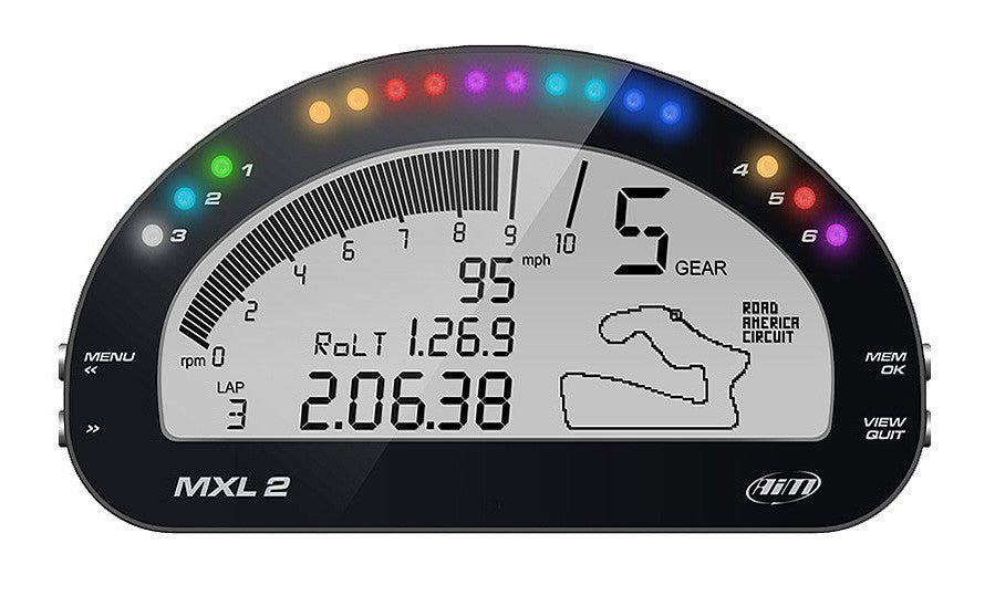 AiM MXL2 Dash Motorcycle Racing Datalogger