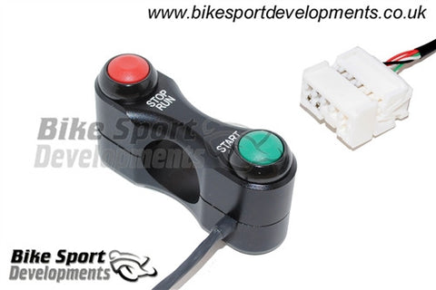 Honda CBR1000RR 2006-16 Race/Track Bike Handlebar Switch Assembly - Stop/Run and Start