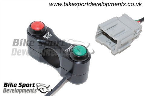 Honda CBR600RR 2007-16 Race/Track Bike Handlebar Switch Assembly - Stop/Run and Start