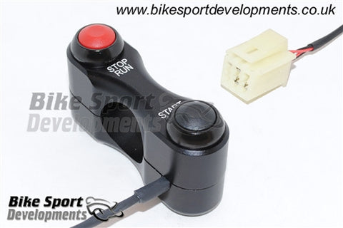 Yamaha YZF600 R6 2008-16, Race/Track Bike Handlebar Switch Assembly - Stop/Run and Start