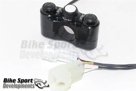 Kawasaki ZX-10R 2011-15 Race/Track Bike Handlebar Switch Assembly - 3 Button Left Side (Kit ECU)