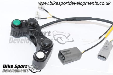 Suzuki GSXR1000 (2017) race/track bike handlebar switch assembly. 4 button left side (re-flash only)