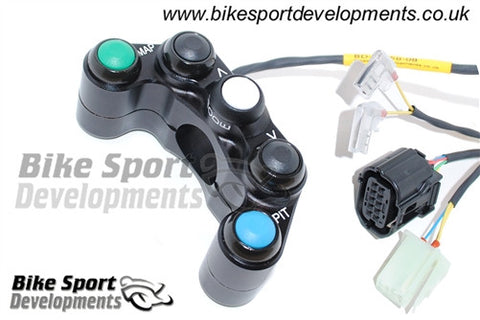 Yamaha YZF-R1/R1M 2015> 5 Way Race Bike Handlebar Switch - Left Side for Kit ECU and Wiring Only