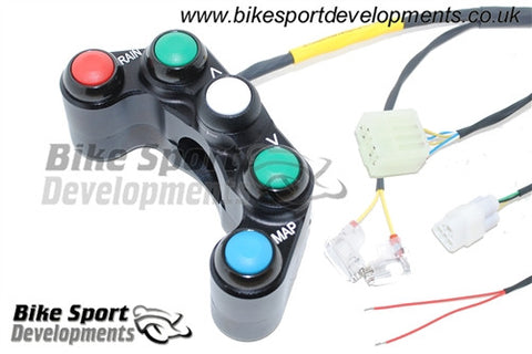 Yamaha YZF1000 R1 2009-14 - 5 Way Race Bike Handlebar Switch for Kit ECU and Wiring Only