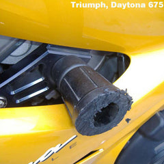Triumph Daytona 675/R 2006-12 & Street Triple/R 2008-12 GB Racing Frame Sliders (Pair)