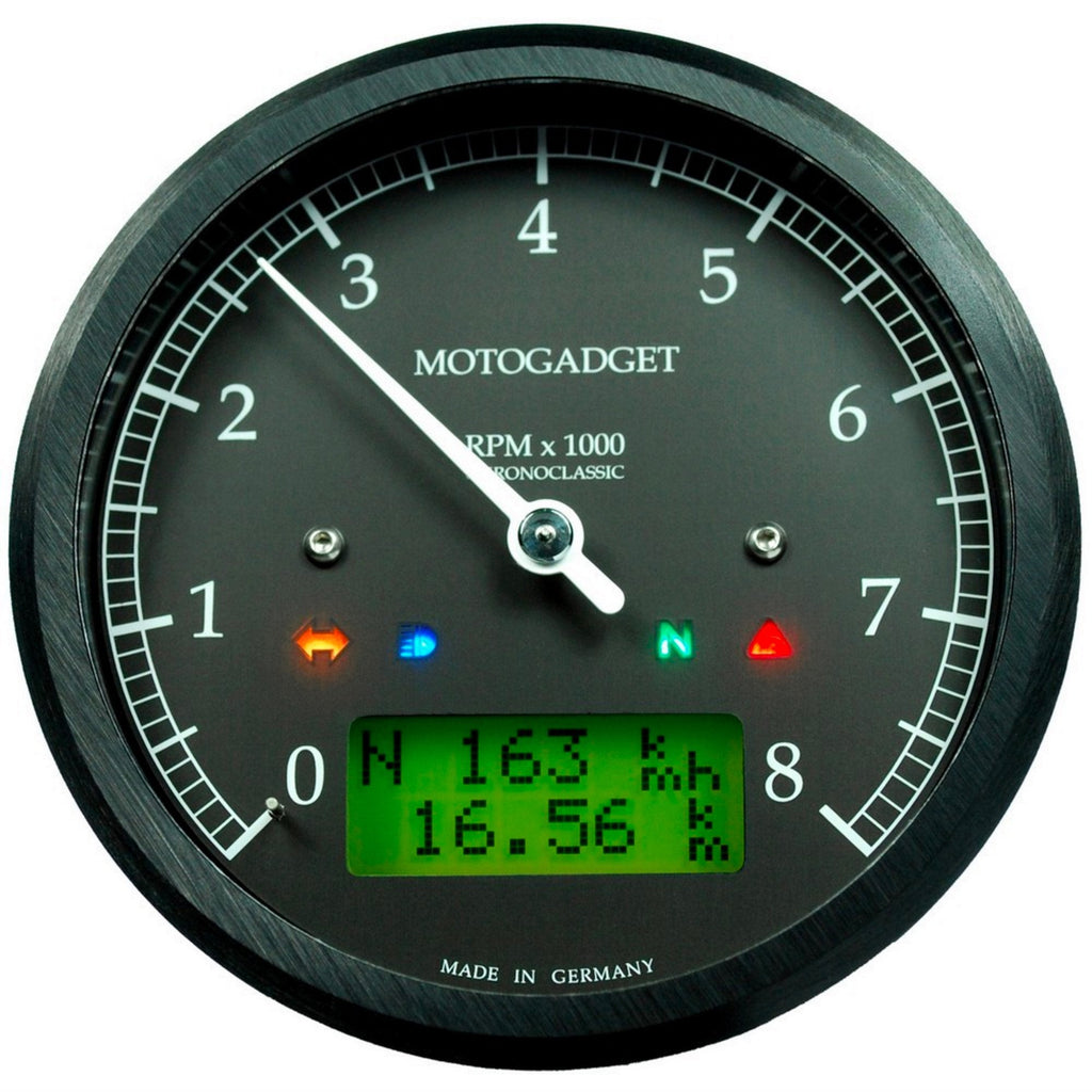 MotoGadget Chronoclassic - Analogue Tacho With Many Additional Features
