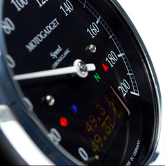 MotoGadget Chrono Classic Speedo - Analogue Speedometer With Many Additional Features