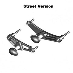 Triumph Daytona 675/R 2006-12 & Street Triple/R 2008-12 GB Racing Bullet Frame Sliders (Pair)