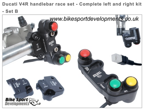 Ducati V4 Handlebar Race Set - Complete Left and Right Kit Set B