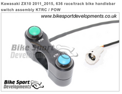 Kawasaki ZX10 2011_2015, 636 race/track bike handlebar switch assembly KTRC / POW
