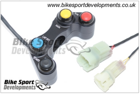 Kawasaki ZX10-2016 , 4 Button Right Side Switch – Run/Stop Starter , Lap-Start, Rain Switch