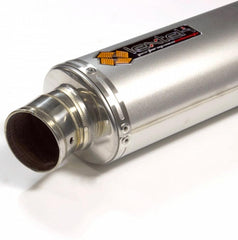 LexTek OP1 Matt Stainless Steel Slip-On Silencer 51mm