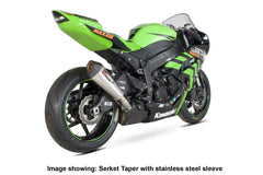 Kawasaki ZX-6R 2009-17 Scorpion Serket Taper Slip-on Exhaust
