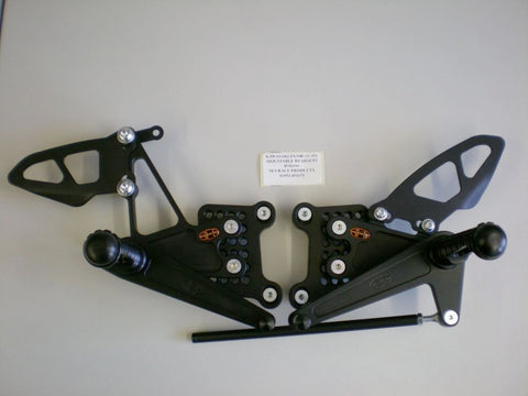 Kawasaki ZX-10R 2011-15 SES Adjustable Race Rearsets