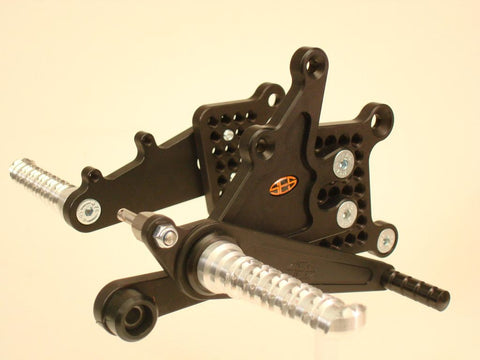 Yamaha YZF600 R6 2006-16 SES Race Rearsets (Kick Stand Mounted Gear Lever)