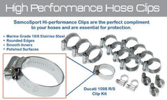 Triumph Street Triple/R 2009-12 SamcoSport Stainless Steel Hose Clamp Kit