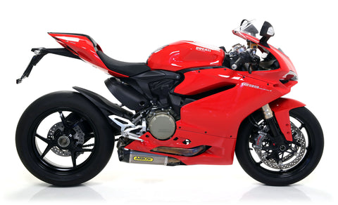 Ducati 1299 Panigale Arrow Works Titanium Slip-On Silencers with Carbon End Cap