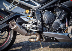 Triumph Street Triple 765/R/S/RS 2017> Spark TITANIUM Racing Link pipe for Spark Silencer