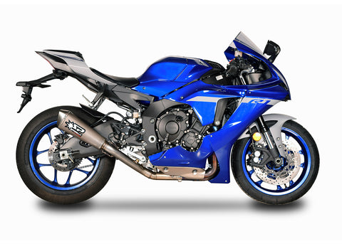 Yamaha YZF R1 2015-20 Spark 3/4 kit: TITANIUM 2in1 collector + KONIX silencer