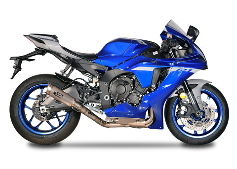 Yamaha YZF R1 2015-20 Spark RACING full system: TITANIUM collector d.65mm + GRID-O silencer