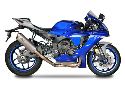 Yamaha YZF R1 2015-20 Spark EWC RACING full titanium system: TITANIUM collector d.65mm + FORCE silencer L.350mm
