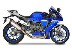 Yamaha YZF R1 2015-20 Spark EWC RACING full titanium system: TITANIUM collector d.65mm + FIGHTER silencer