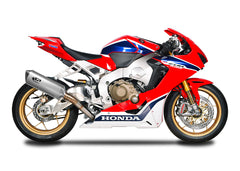 Honda CBR1000RR 2017-19 Spark RACING full system: AISI 304 stainless steel collector + FORCE silencer L.300 mm