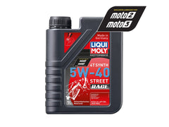 LIQUI MOLY - OIL 4-STROKE - FULLY SYNTH - STREET / RACE - 5W-40 - 1 LITRE