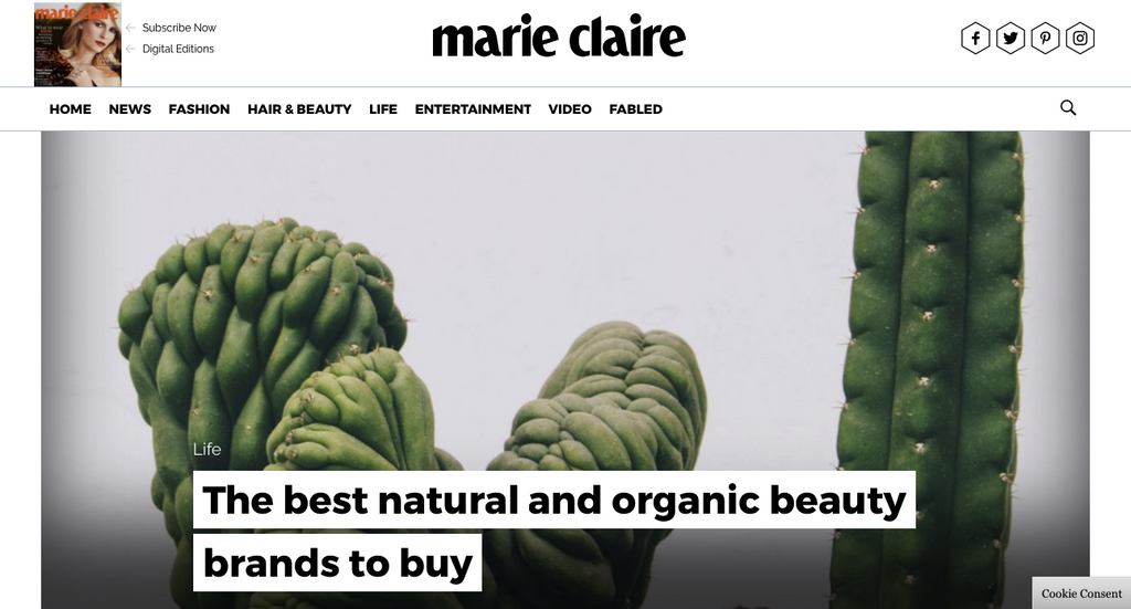 Featured in Marie Claire!