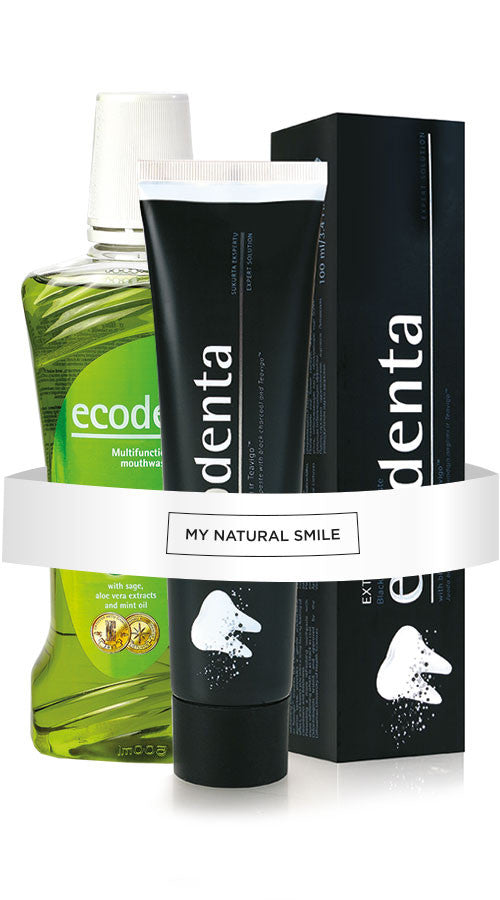 Ecodenta Black Charcoal Toothpaste + Mouthwash