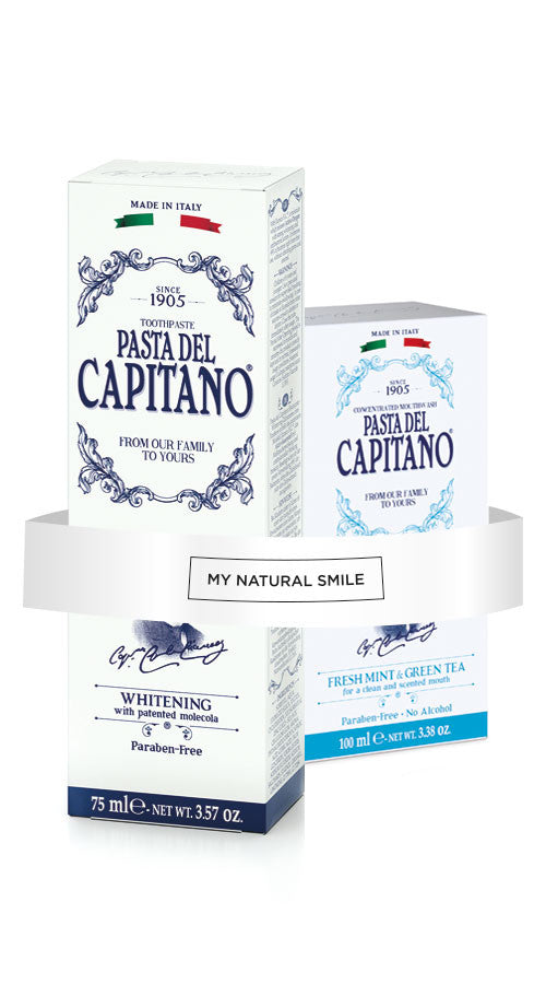 Luxury Teeth Whitening Toothpaste + Mouthwash by Pasta Del Capitano - mynaturalsmile