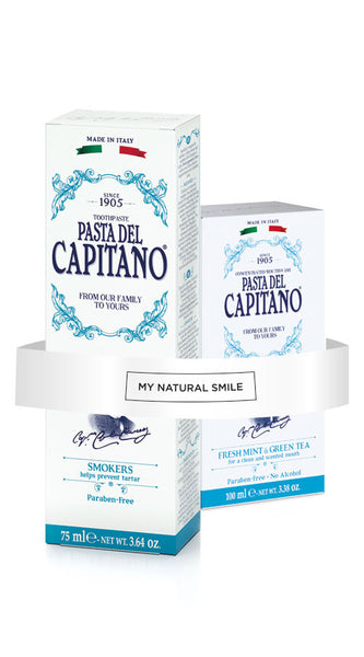 Oral Care for Smokers Toothpaste + Mouthwash by Pasta Del Capitano - mynaturalsmile