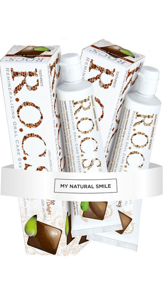R.O.C.S Chocolate Mint Toothpaste x2 + FREE Gift - mynaturalsmile