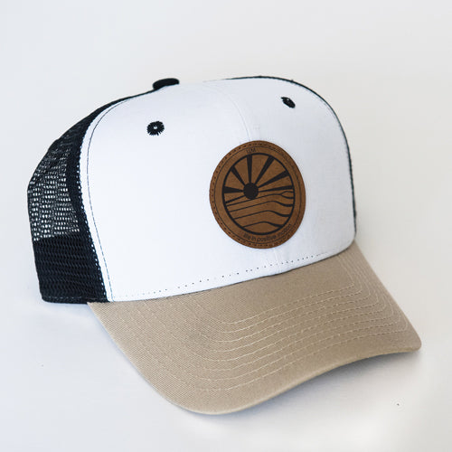 0145a1d422116 Step Into Sunshine Curved Trucker Hat - Desert