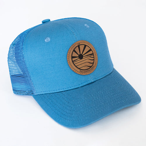 70469b302a059 Step Into Sunshine Curved Trucker Hat - Morning Sky
