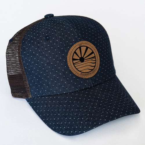 7a180e6bc0f2d Step Into Sunshine Curved Trucker Hat - Twilight