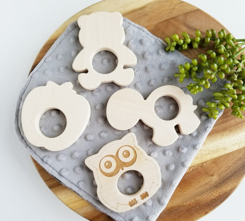 Maple Wood teethers, 4 Options