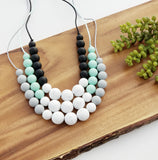 The Crissy Necklace - Silicone  Teething Necklace - 3 Color Options
