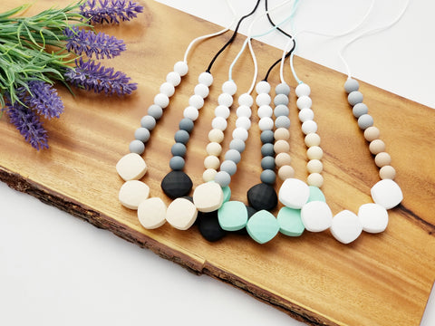 The Mia Silicone Teething Necklace - 4 Color Options
