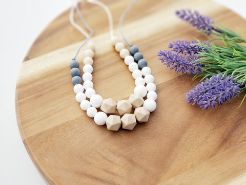 The Jade Necklace Silicone Teething  Necklace for Mom - 2 Color Options
