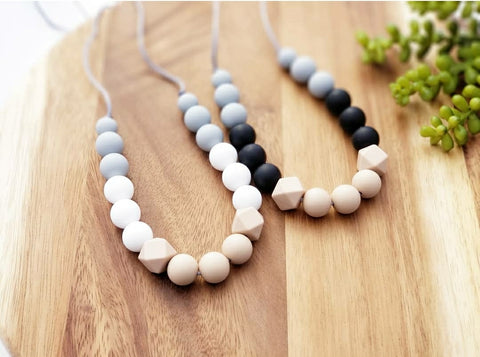 The Ava Necklace Silicone Teething  Necklace for Mom - 2 Color Options