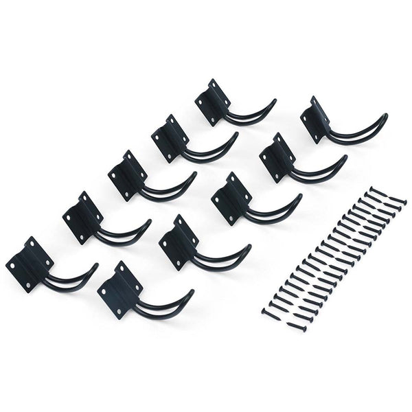 10pc Matte Black Iron Hooks